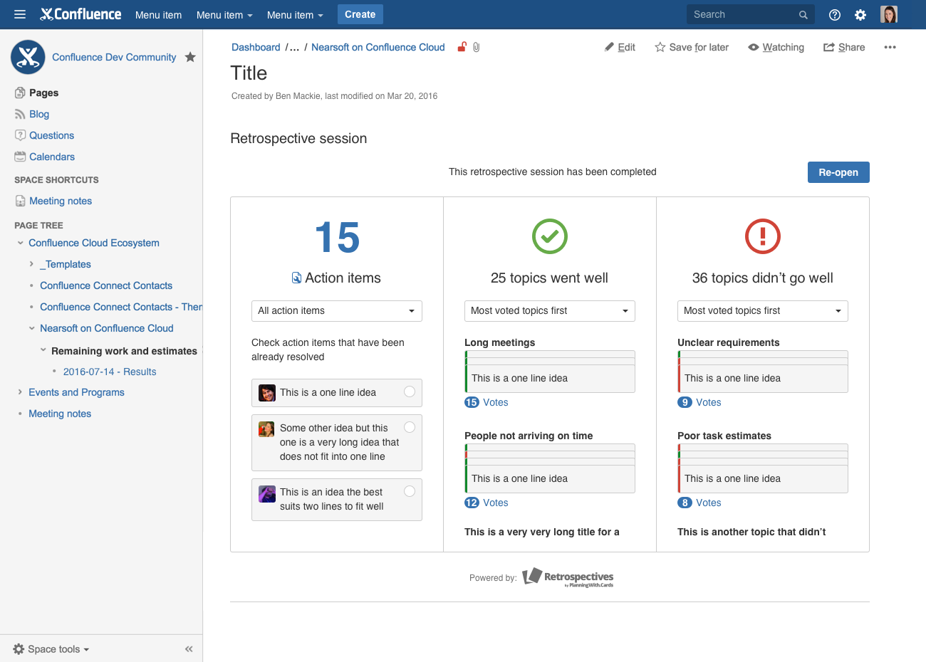 confluence blog post template - confluence add ons that will increase your team s performance